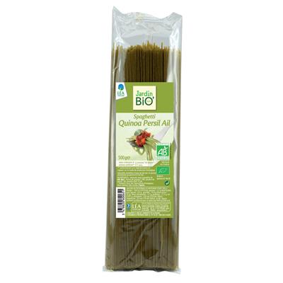 Спагетти с киноа, чесноком и петрушкой JardinBio 500 g