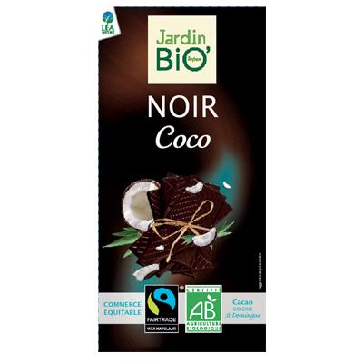 Черный шоколад с кокосом JardinBio 100 g