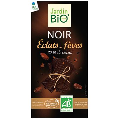 JardinBio Dark Chocolate with Cocoa Nibs 100g