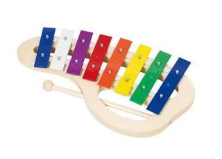 GOKI 8-tooniline ühe pulgaga värviline ksülofon