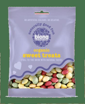 Разноцветные шоколадные пуговки Biona 60g