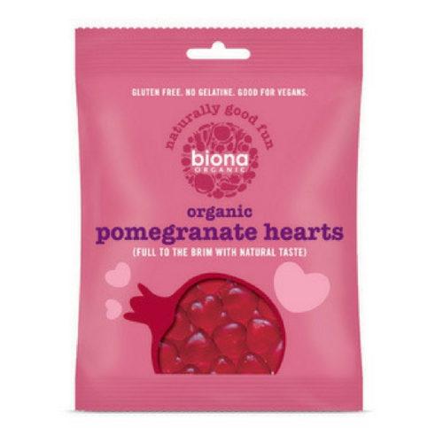 Biona Jellies Pomegranate Hearts 75g