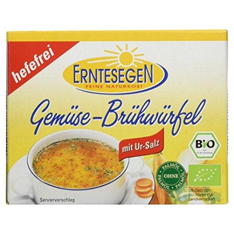 Овощные бульонные кубики без дрожжей Erntesegen 6x0,5L