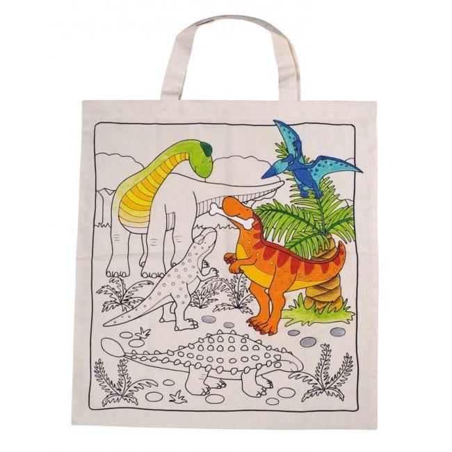 GOKI Cotton Bag with Dinosaurs 34x42 cm