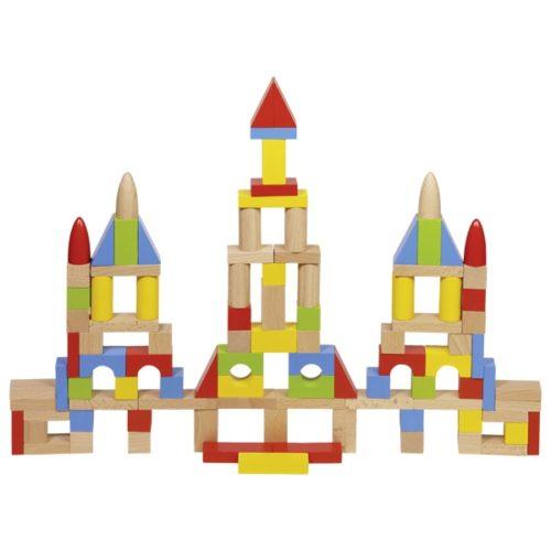Набор деревянных кубиков в мешочке GOKI 100шт