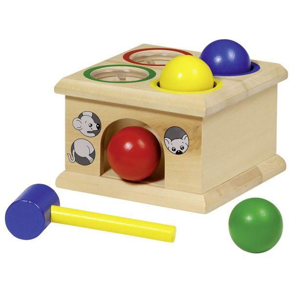 Развивающая игра с молоточком Мышка GOKI