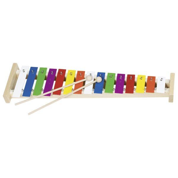 Ксилофон металлический + нотная тетрадь GOKI, 15 тонов