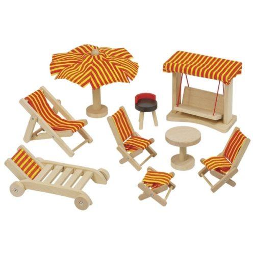 GOKI Dolls' House Garden Furniture