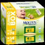 Moltex Nature Maxi Jumbo mähkmed (7-18 kg), 74tk