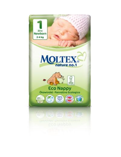 Подгузники Moltex Nature Newborn 2-4 kg, 23 шт.