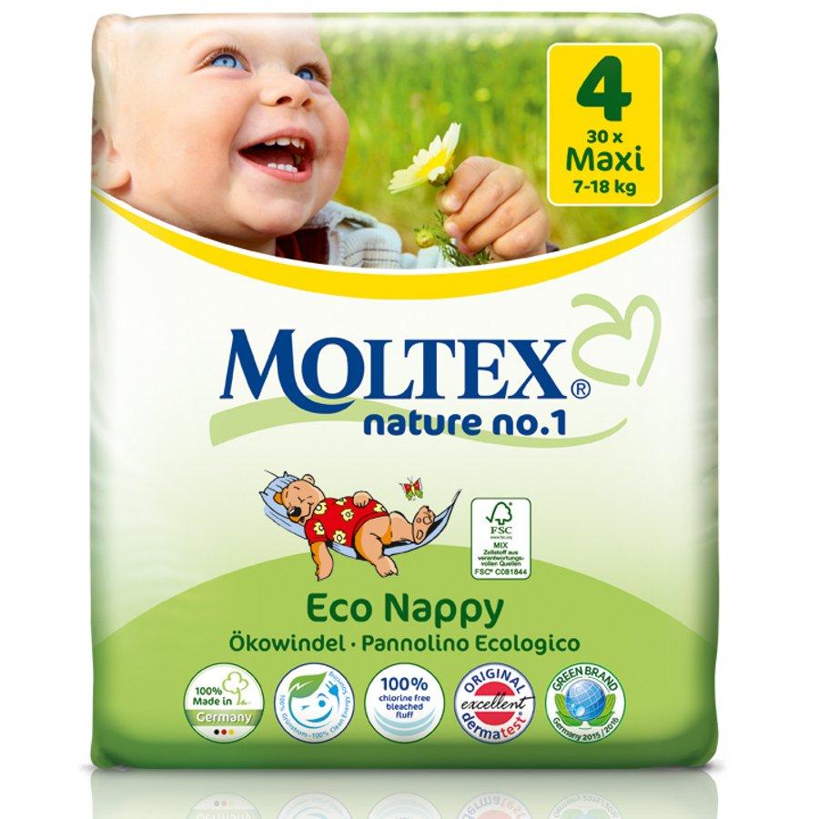 Подгузники Moltex nature Maxi 7-18kg, 30 шт.