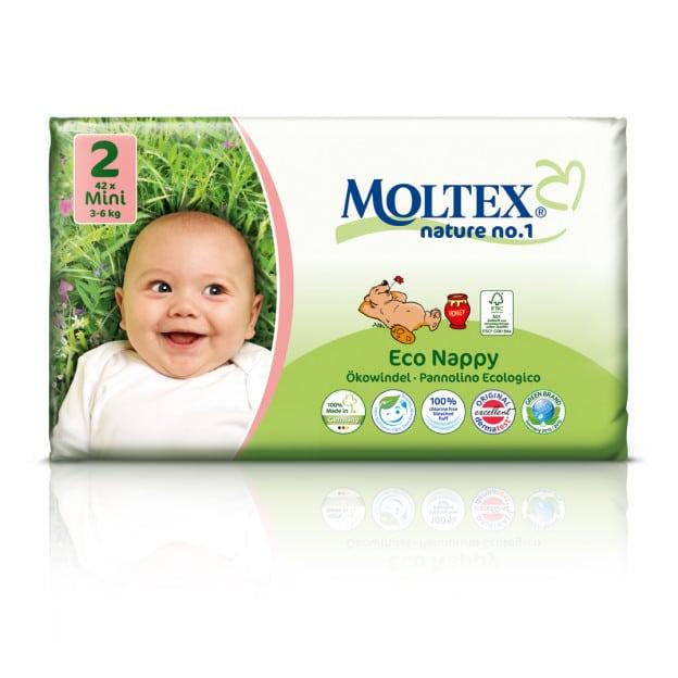 Moltex Nature Mini mähkmed (3-6 kg) 42tk