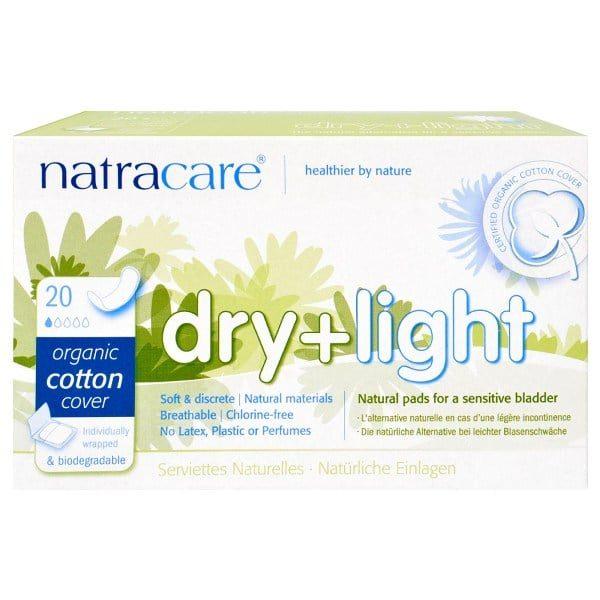 Прокладки ежедневные Natracare dry+light 20 шт.