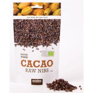 Какао бобы дробленые сырые Purasana
