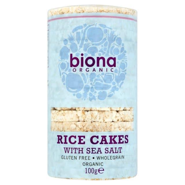 Вафли рисовые цельнозерновые с морской солью Biona 100g