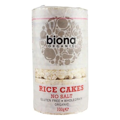 Вафли рисовые цельнозерновые  без соли Biona 100g