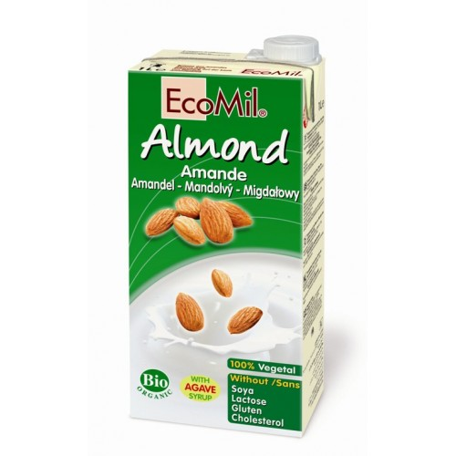 EcoMil Almond Drink with Agave 1L