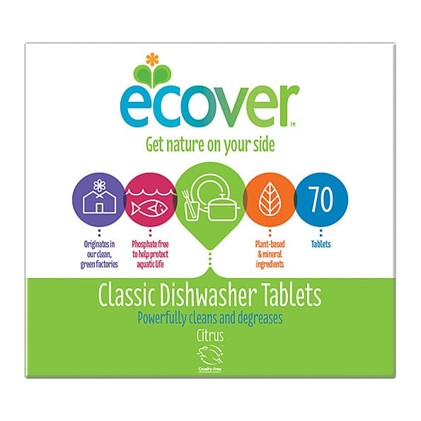 Ecover nõudepesumasina tabletid 70tk XL