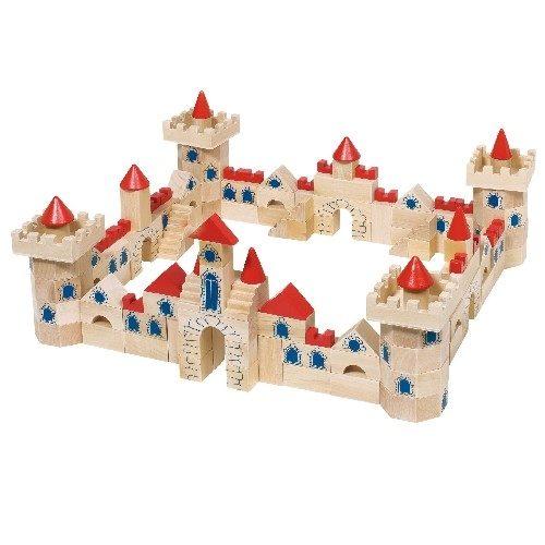 Конструктор Замок  из кубиков GOKI, 145 деталей