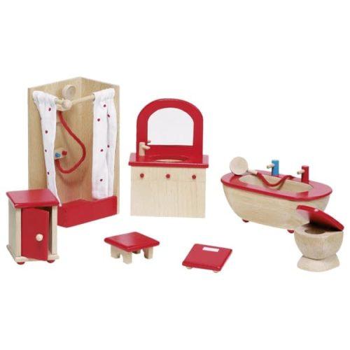 Мебель для кукольной ванной комнаты GOKI