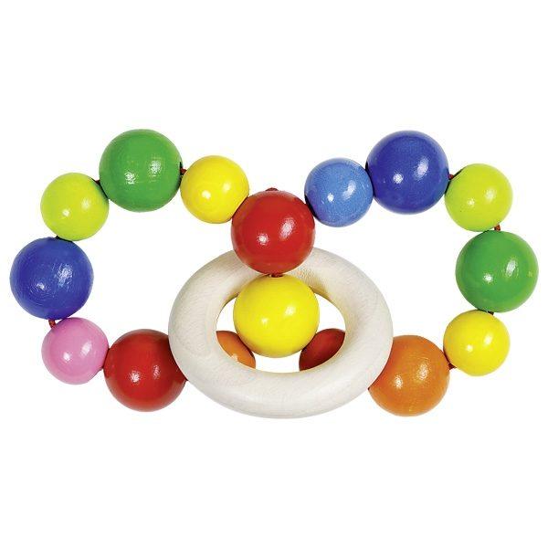 Прорезыватель-погремушка Разноцветная радуга Heimess