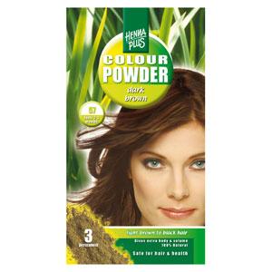 Краска для волос Henna Plus 100g, темно-коричневый 57