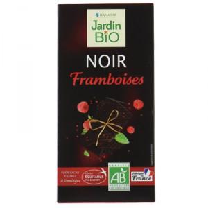 Черный шоколад с малиной JardinBio 100g