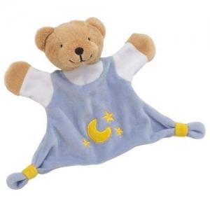 Игрушка салфетка Голубой мишка GOKI