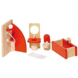 Мебель для кукольной ванной комнаты, 5 частей GOKI