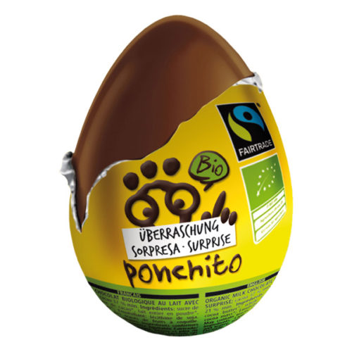 Шоколадное яйцо с сюрпризом Ponchito 20g