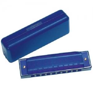 Губная гармошка 10 ладов GOKI, синяя