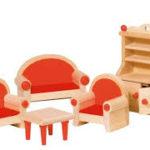 Кукольная мебель для гостинной GOKI, 5 предметов