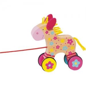 Лошадка Клара на веревочке GOKI
