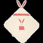 Комплект: детское банное полотенце с капюшоном и рукавица