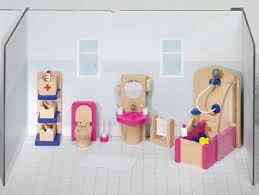 Мебель для кукольной ванной комнаты, 22 предмета GOKI