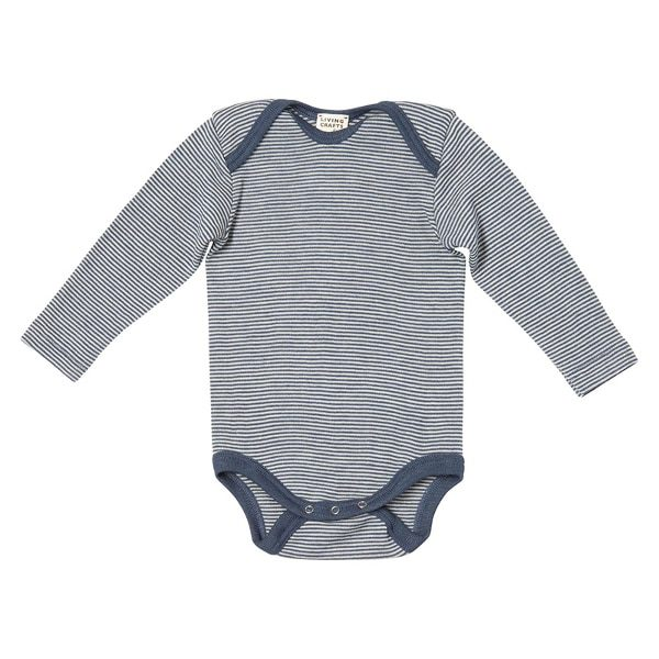 Living Crafts Blue Striped Long-Sleeved Body