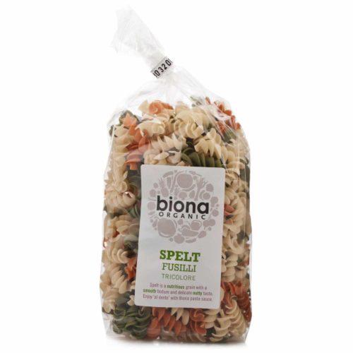 Фузилли трехцветные из спельты Biona 250g