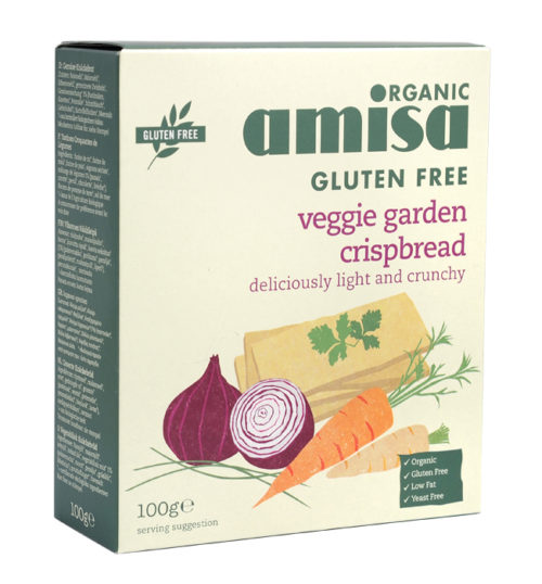 Amisa Veggie Garden Crispbread 100g