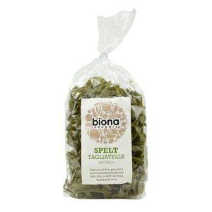 Biona spinatiga speltajahust tagliatelle 250g