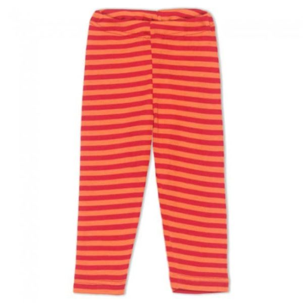 Engel Cherry-Orange Striped Baby Leggings