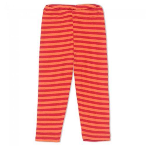 Детские штанишки Engel вишнево-оранжево-полосатые