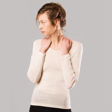 Женская кофта с длинным рукавом Living Crafts белая
