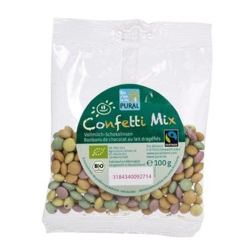 Pural Confetti Mix Chocolate Drops 100g