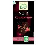 JardinBio tume šokolaad jõhvikatega 100g