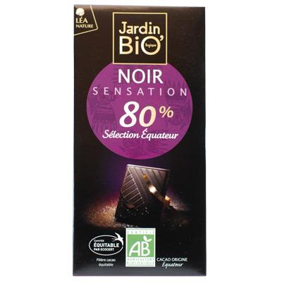 Черный шоколад 80% JardinBio 100g