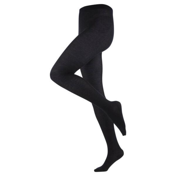 Женские колготки шерсть/хлопок Living Crafts черные  M