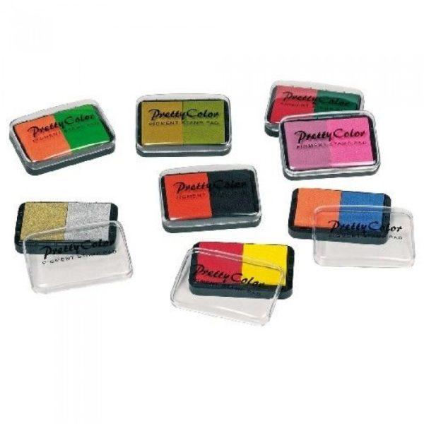 Штемпельная подушка двухцветная GOKI