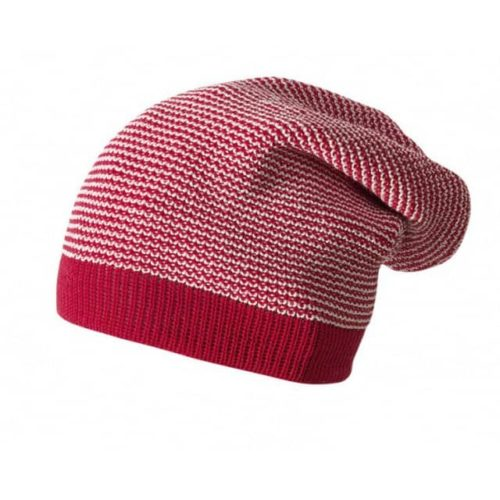 Вязаная шапка Disana красная