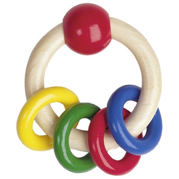 Прорезыватель-погремушка Цветные кольца Heimess