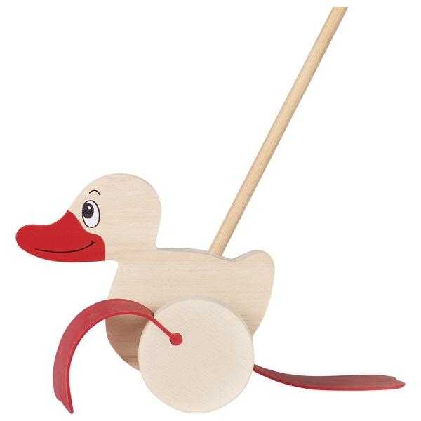 Игрушка-каталка Утенок GOKI